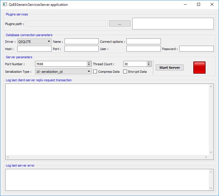 Export C++ services server app