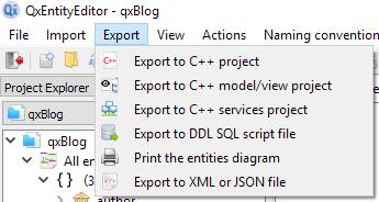 Export plugins