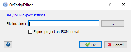 Export XML/JSON