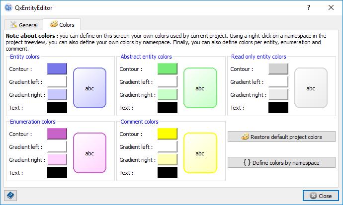 Project settings tab 2