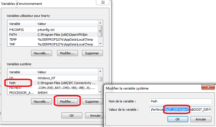 installe qt à partir des fenêtres source