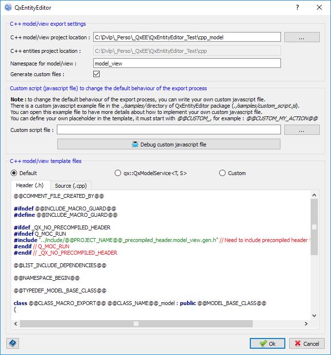 Export C++ model/view